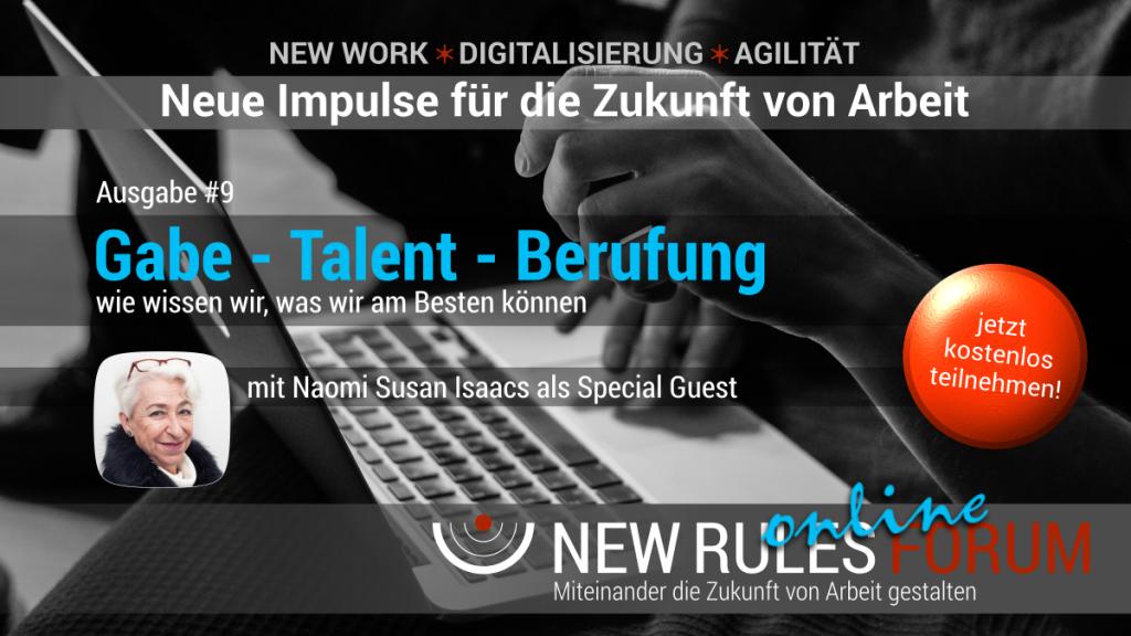 New Rules Forum - faszinierende Impulse zur Zukunft von Arbeit 1