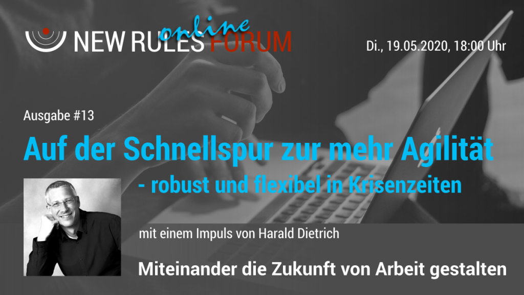Banner zum 13. New Rules Online Forum